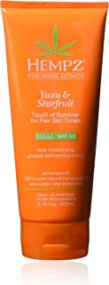 product image for Hempz Hempz yuzu & starfruit touch of summer moisturizing gradual self-tanning creme with spf 30 for fair skin tones, 6.76 ounce , 6.76 Ounce