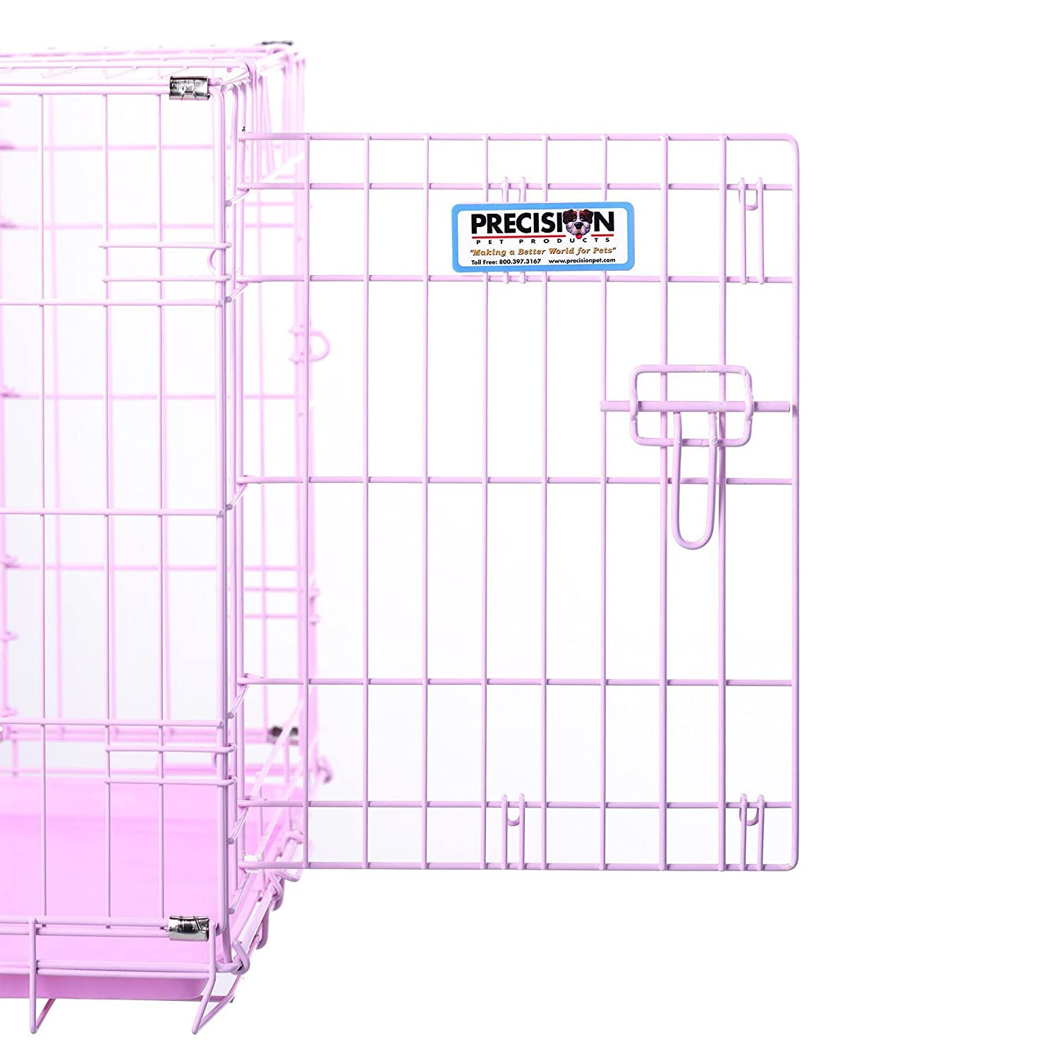Precision Pet ProValu, Double Door Dog Crate Pink