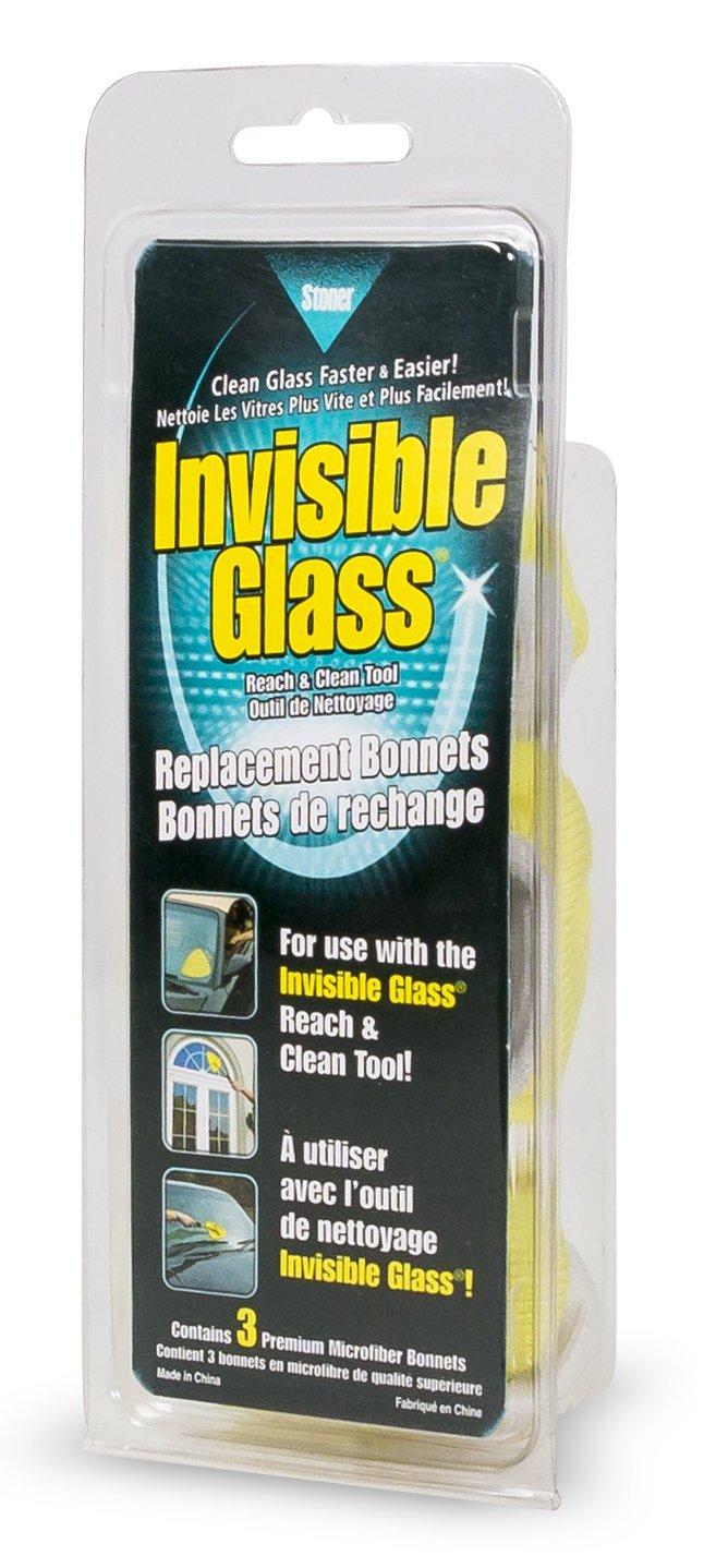 Invisible Glass 95183 Reach And Clean Tool Dopo rimpiazzarli Merotoner in Microfibra-Panni per la Pulizia Manico, 3 PCS Stoner