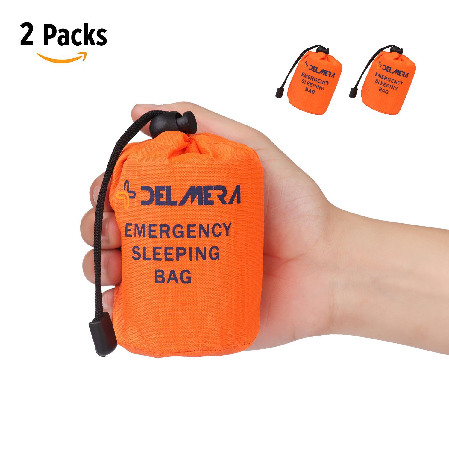 Camping & Hiking Emergency Survival Sleeping Bag Easy Heat Insulation Compact Outdoor First Aid Gear Waterproof Bivy Sack For Camping Hiking Ba