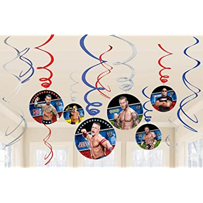 Amscan WWE 12-Foil Swirl Decorations: Toys & Games