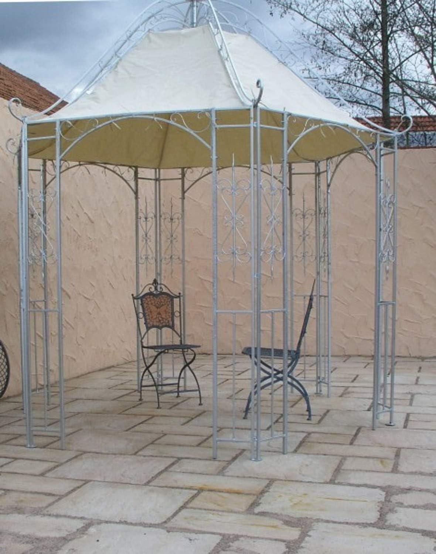 Carpa de metal para jardín o cenador de hierro forjado y zinc ...