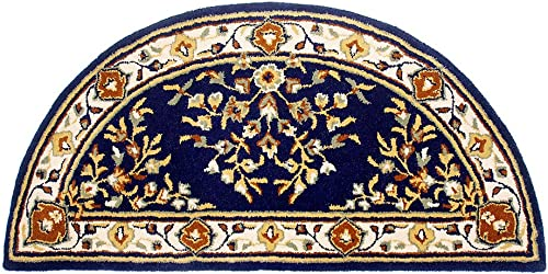 Minuteman International Blue Oriental Wool Hearth Rug
