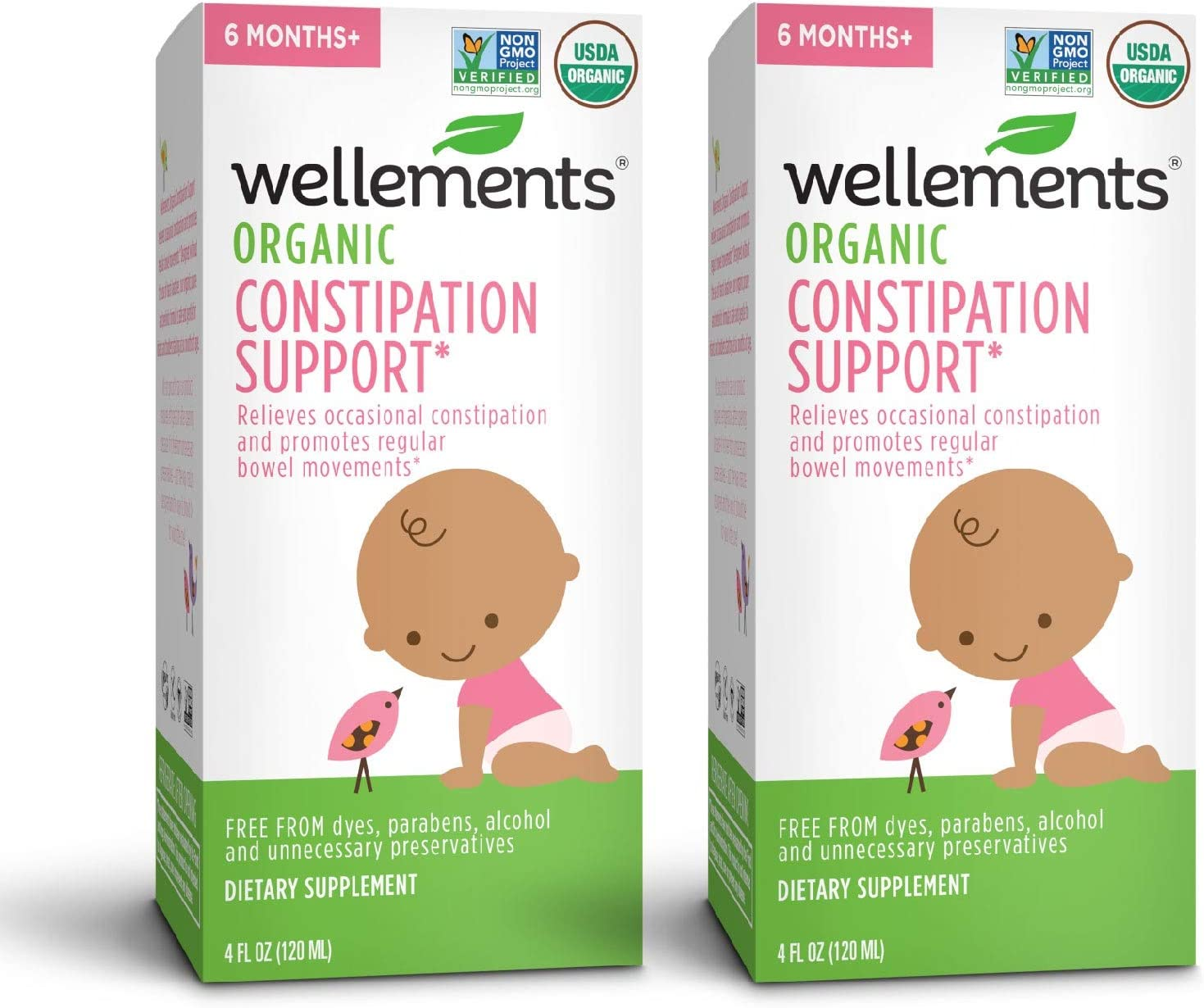 Amazon Com Wellements Organic Baby Constipation Support 4 Fl Oz Free From Dyes Parabens Preservatives New Health Personal Care