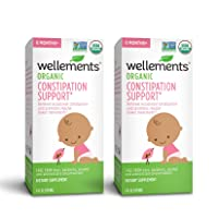 Wellements Organic Baby Constipation Support, 4 Fl Oz, Free from Dyes, Parabens,...