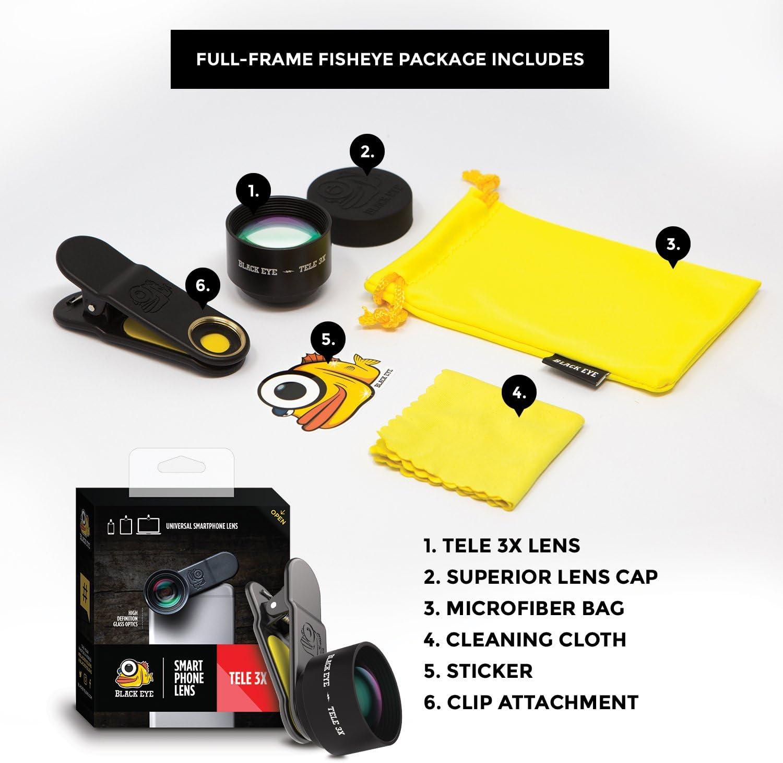 Black Eye Tele 3X 39° Tele-lente para smartphones construidos ...
