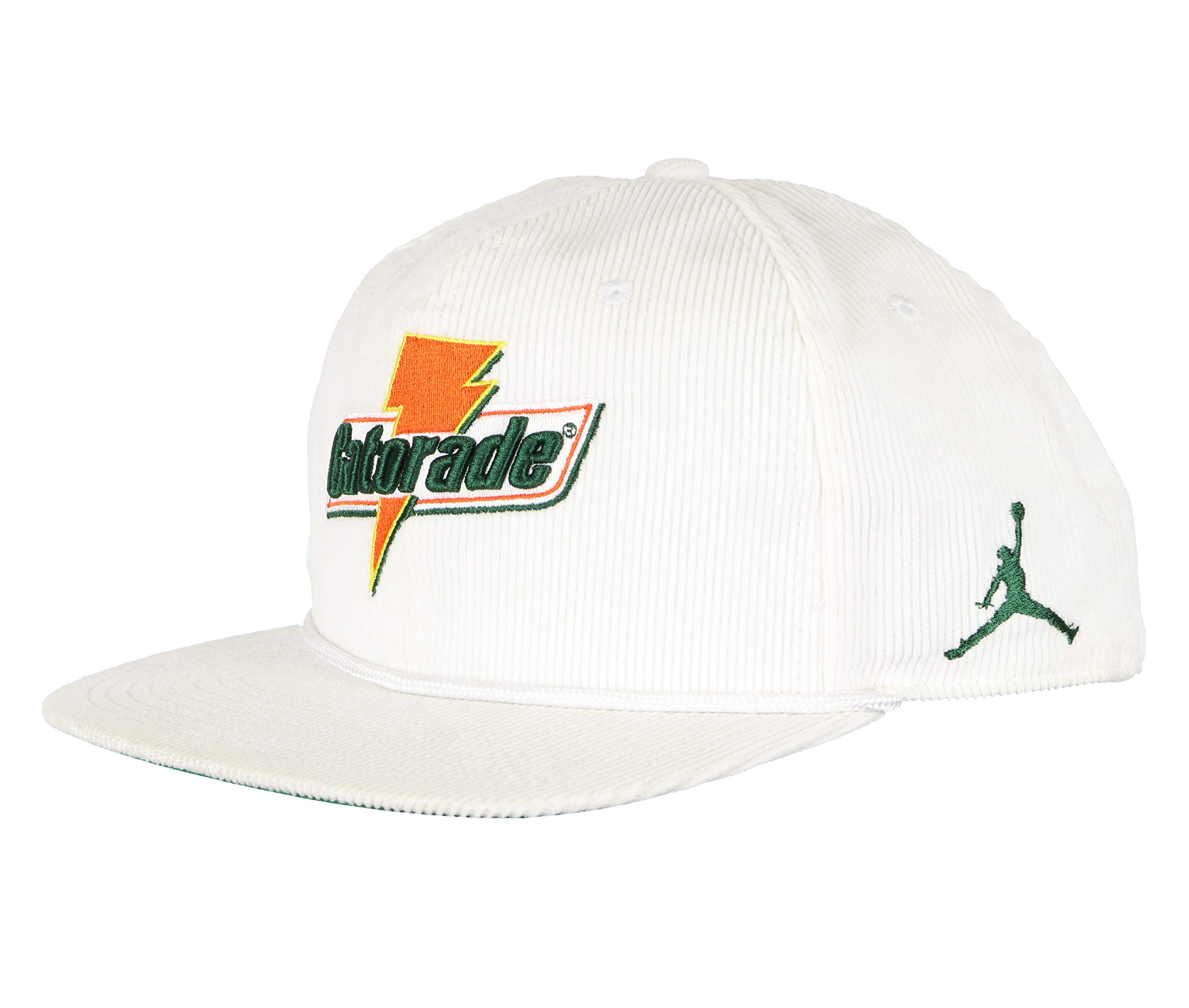 NIKE Air Jordan Pro Like Mike Baseball Cap Adult Adjustable White/Orange/Green (One Size Fits Most)