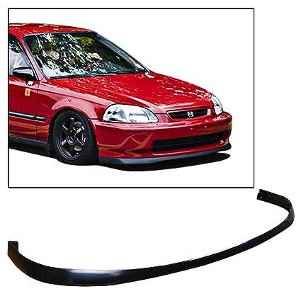 TC Sportline BO-HOCI962321 SiR-Style Polyurethane PU Front Bumper Lip Spoiler for 1996-1998 Honda Civic