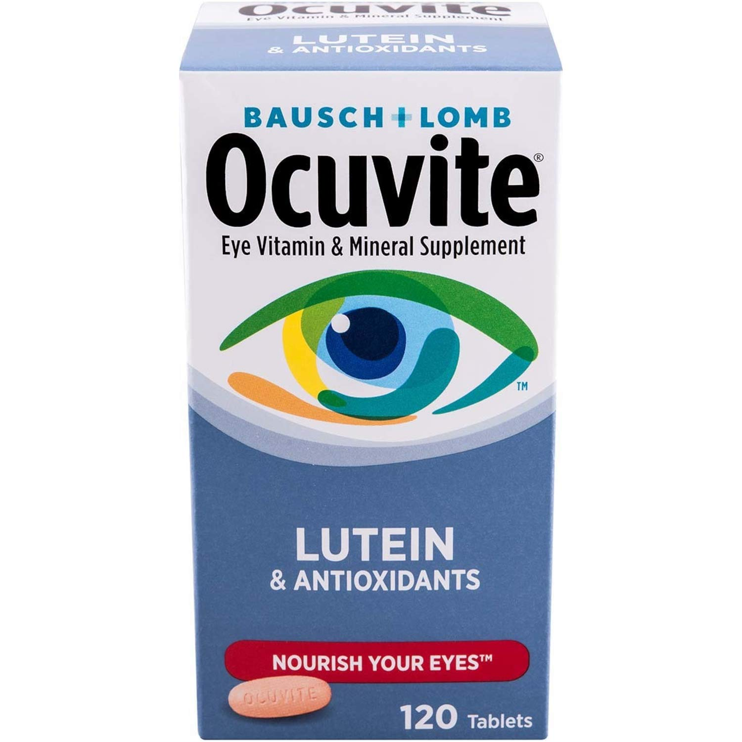 BAUSCH & LOMB OCUVITE with Lutein! 120 Tablets Eye Care by Bausch & Lomb