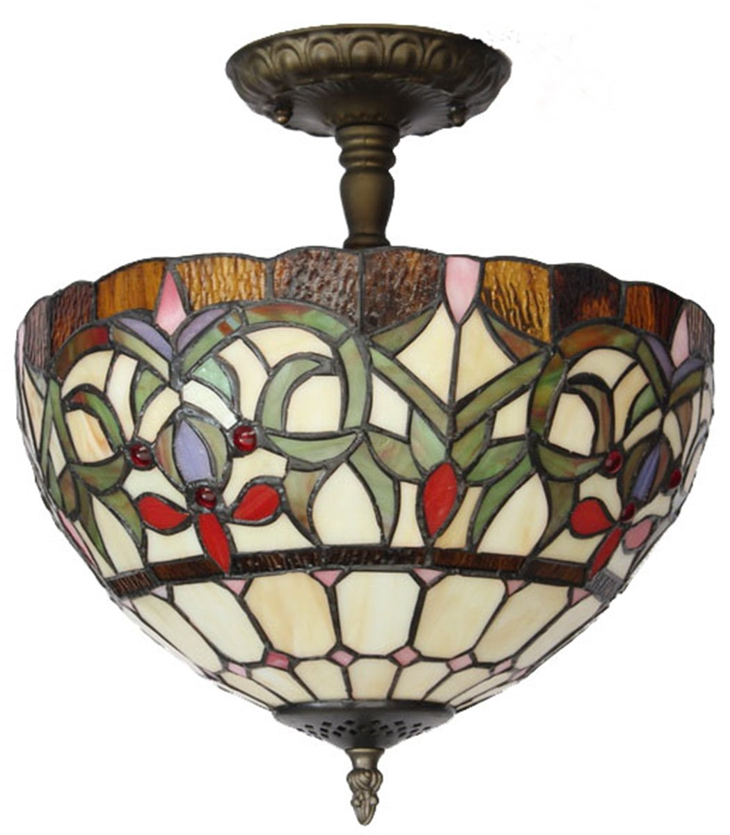 71XqfGFu93L._SL1200_ amora lighting am1081hl12 tiffany style stained glass ceiling Wiring a Ceiling Fan with Light at aneh.co