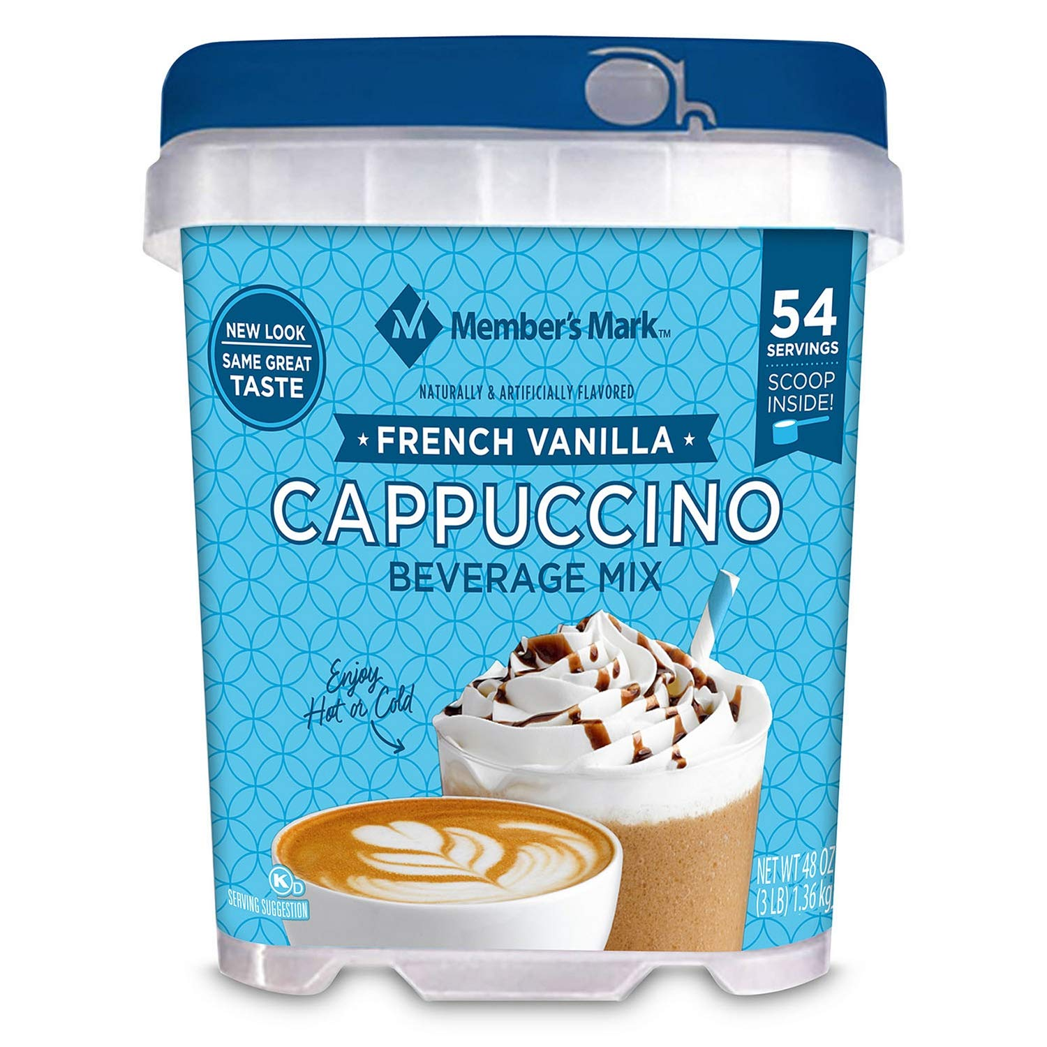 Member's Mark French Vanilla Cappuccino Beverage Mix 2Pack (48 oz Each)