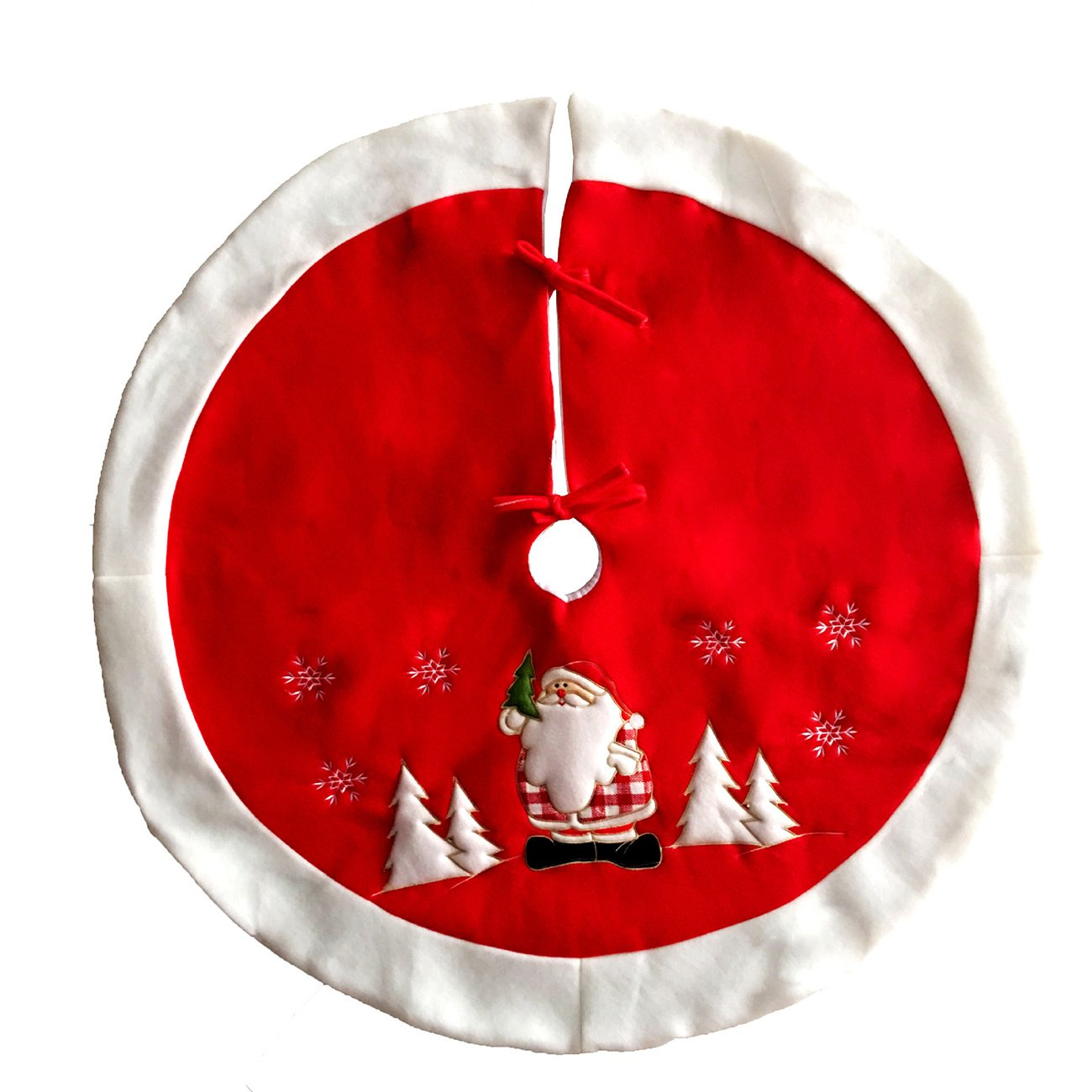 Thee Santa Claus gonne di velluto albero di Natale red 100cm