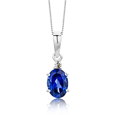 pendant aaa p necklaces with sapphire c halo oval classic drop saphire necklace