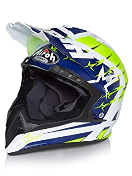 Airoh Casco Mx Switch Startruck Amarillo (S, Amarillo)