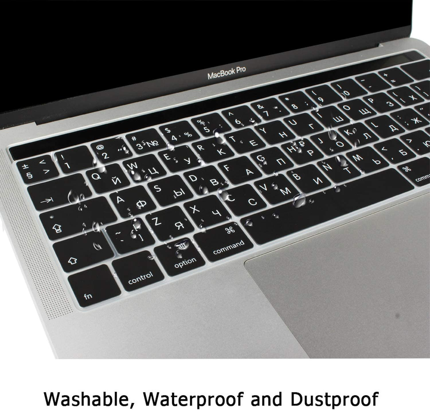Russian Layout Keyboard Cover Silicone Skin for New MacBook Pro 13 15inch A1706 A1707 US Enter-one/_Color