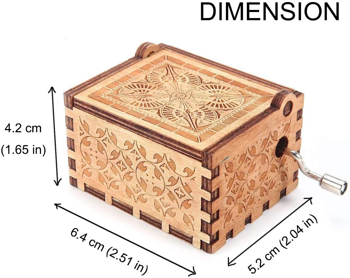 1 Set Girlfriend Can/'t Help Falling in Love Music Box Wife ukebobo Wooden Music Box Valentine Gifts,Birthday Gifts for Lover