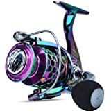 Sougayilang Colorful Fishing Reel 13 +1 BB Light Weight Ultra Smooth Powerful Spinning Reels, with CNC Line Management…