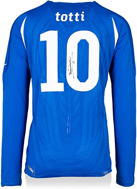 Francesco Totti Italy National Team Autographed Home Jersey ...