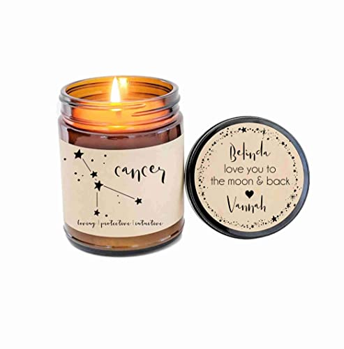 Amazon Cancer Zodiac Candle Gifts Birthday Gift Personalized Soy Star Sign For Her Handmade