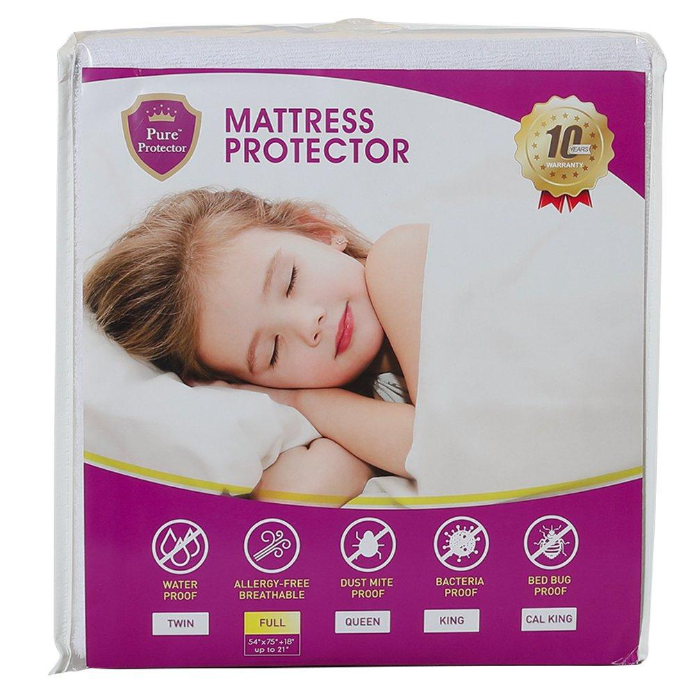 Amazon.com: Pure Protector suave Terry Protector de colchón ...