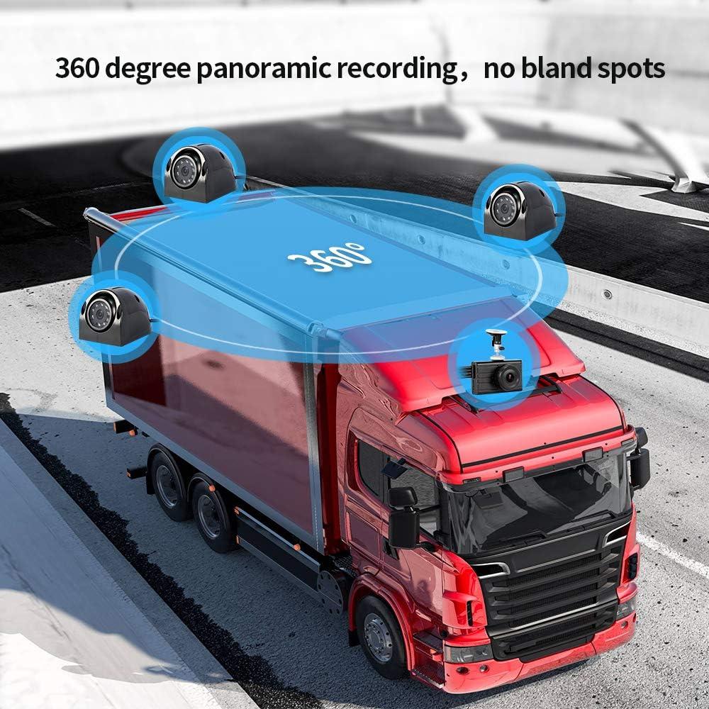 1080P+VGA3 Vsysto X2VPro 1080P Dash Cam Backup Camera Loop Recording 4CH Waterproof Lens for Semi Truck//Bus//Trailer//Cars//Tractor//Van//RV DVR Recording System with G-Sensor Infrared Night Vision