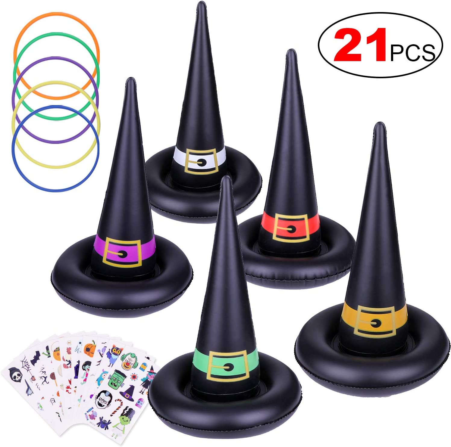 Kovot Witch Hat Ring Toss Inflatable Halloween Game Fall Festival /& Halloween Party Game
