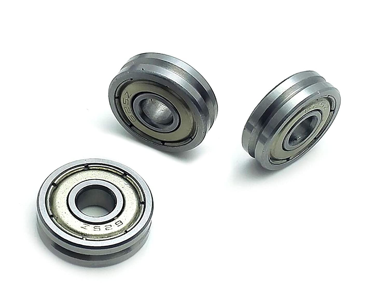 5mm V Groove 90/° Pulley Rail Track Bearings Deep Groove Ball Bearings 10pcs V625ZZ 5 16 Pre-Lubricated and Stable Performance and Cost Effective