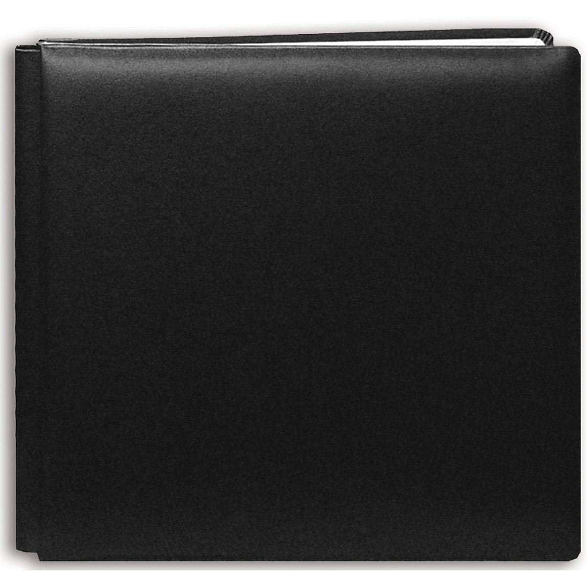 Pioneer 12 Inch by 12 Inch Postbound Leather Family Treasures Memory Book, Black