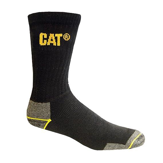 Caterpilar - Calcetines gruesos para trabajar hombre/caballero - 3 pares de calcetines (39