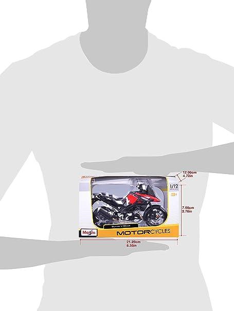 red/Black Maisto 5-19130 Suzuki V-Storm Model Motorcycle in Scale ...