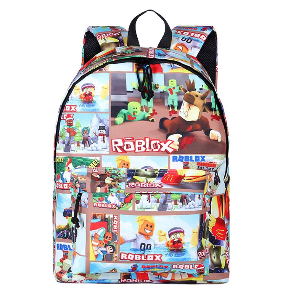 Unisex Roblox Dibujos Animados de impresión Mochilas Mochila Casual Mochilas Escolares Juveniles School Bag