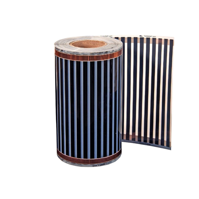 Infrarot Heizfolie 12-24V 1m x20cm Infrarotheizung elektrische Fu/ßbodenheizung