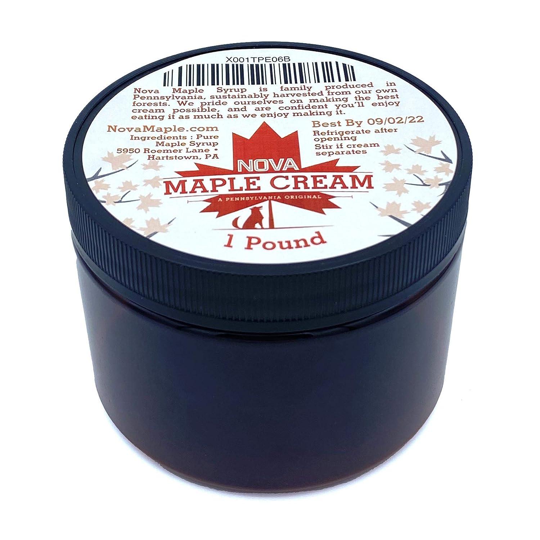 Nova Maple Cream - Pure Grade-A Maple Cream Butter Spread (1 Pound)