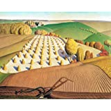 Wooden Jigsaw Puzzle - Fall Plowing by Grant Wood - 351 Unique Wooden Pieces. Made in The USA by Nautilus Puzzles