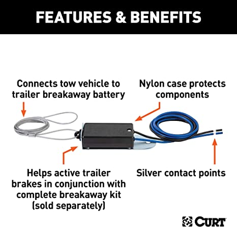 [SCHEMATICS_43NM]  Amazon.com: CURT 52010 Trailer Breakaway Switch: Automotive | Breakaway Wiring Diagram |  | Amazon.com