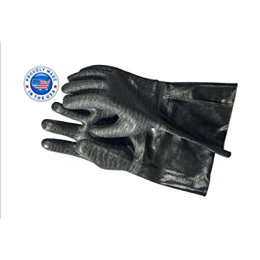 """Artisan Griller BBQ Heat Resistant Insulated Smoker, Grill, Fryer, Oven, Brewing, Cooking Gloves. Great for Barbecue/Frying/Grilling – Waterproof, Fire&Oil Resistant Neoprene-1 Pair Size 9/LG-14"""""""