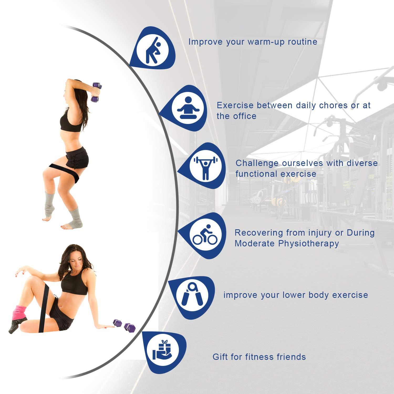 Juego de Bandas Resistencia Elástica x2 para Ejercicio - Correas de Tobilleras Fitness Profesionales (x2), Adecuado para Cadera, Fuerza de Piernas y de Boxeo, Yoga, Gimnasio, Crossfit,Culturismo