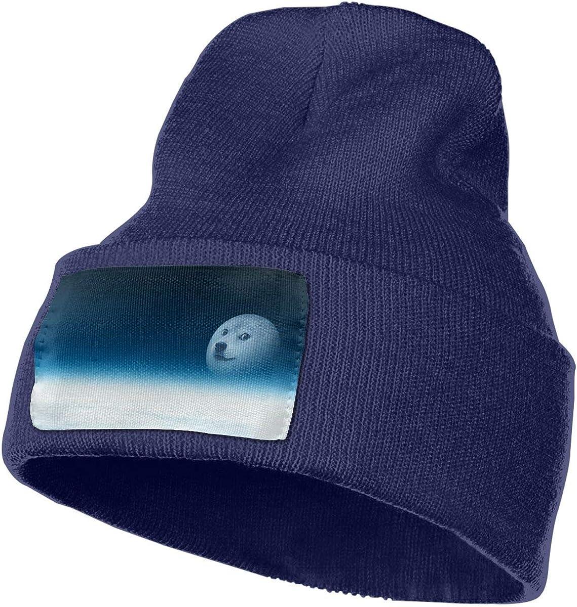 Yubb7E Doge Warm Knit Winter Solid Beanie Hat Unisex Skull Cap