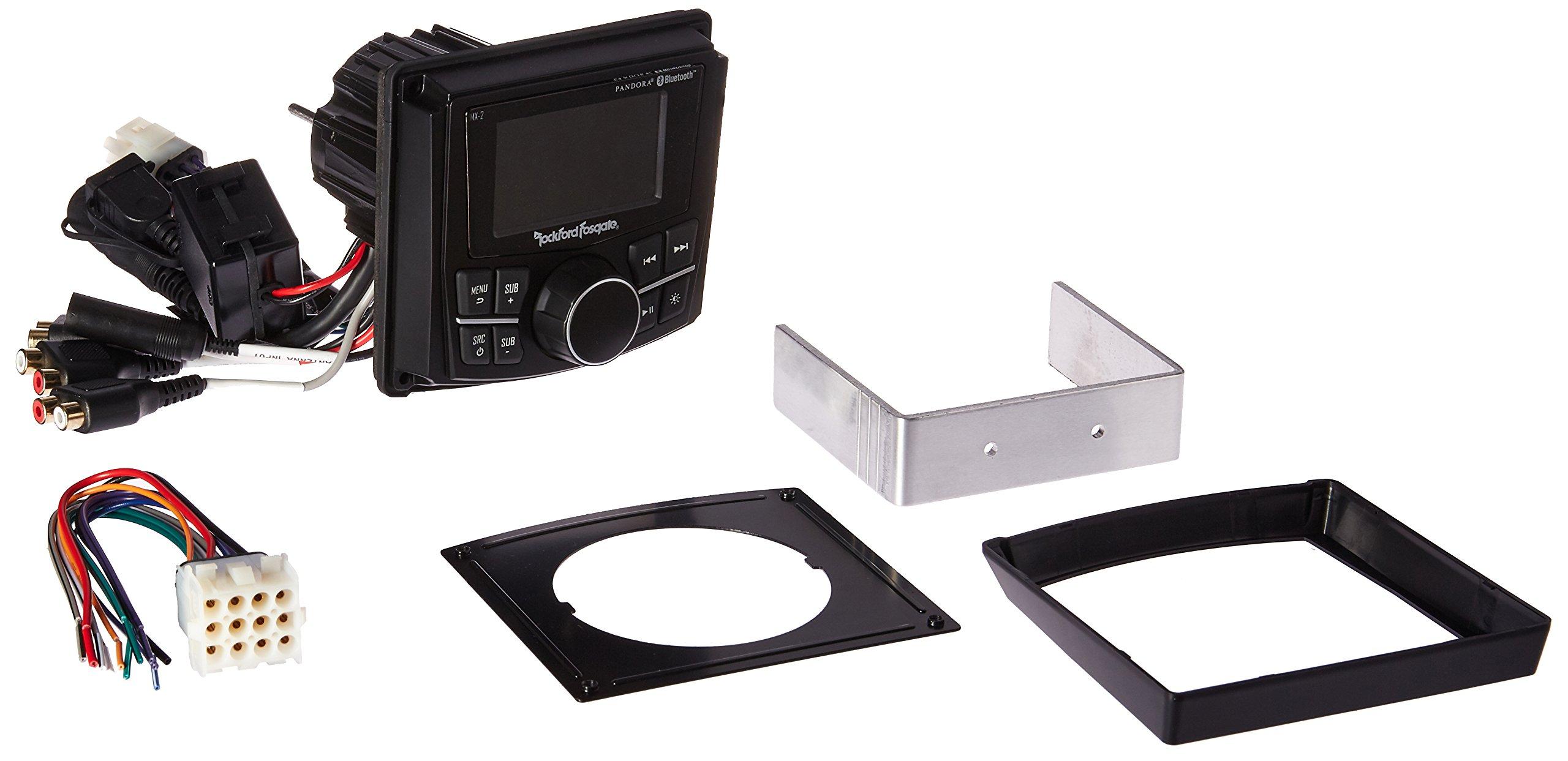 Rockford Fosgate PMX-2 Punch Marine Compact AM/FM/WB Digital Media Receiver 2.7'' Display