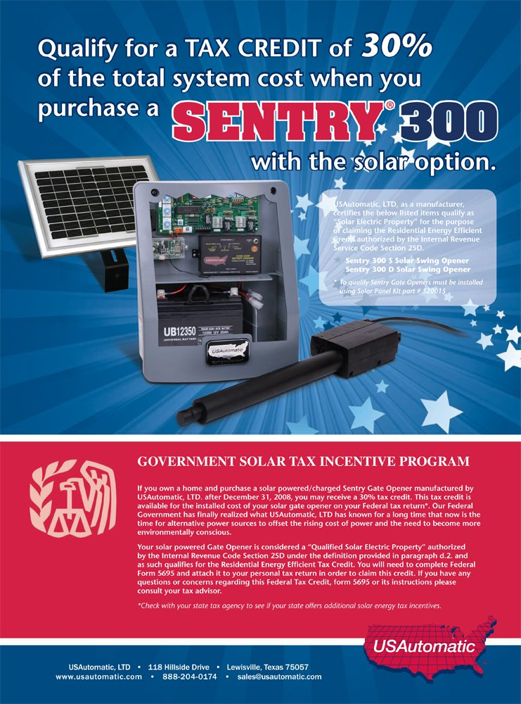71XqobYx9KL._SL1000_ usautomatic 020320 sentry 300 commercial grade automatic gate  at couponss.co