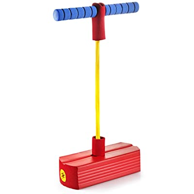 Play22 Foam Pogo Jumper for Kids - Fun and Safe Jumping Stick - Pogo Stick for Kids and Adults - Pogo Jump Makes Squeaky Sounds - Holds Up to 250 LBS - Great Gift for Boys and Girls - Original: Toys & Games