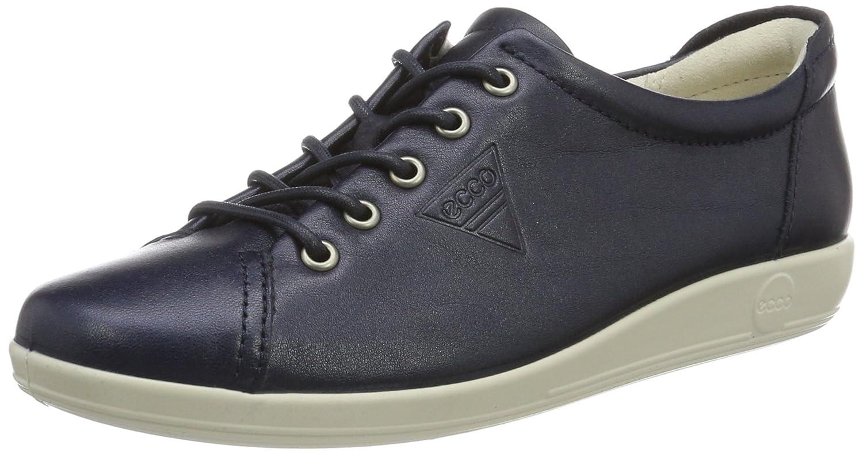 Ecco Soft 2.0, Zapatos de Cordones Derby para Mujer 40 EU|Blau (1038marine)