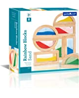 Guidecraft Rainbow Blocks - Sand, Kids Learning & Educational Toys, Stacking Blocks