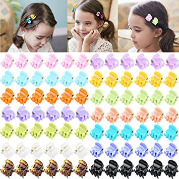 84 Pcs Acrylic Mini Hair Claw Tiny Hair Clips For Women And Girls (14 Candy Colors) by Cellot