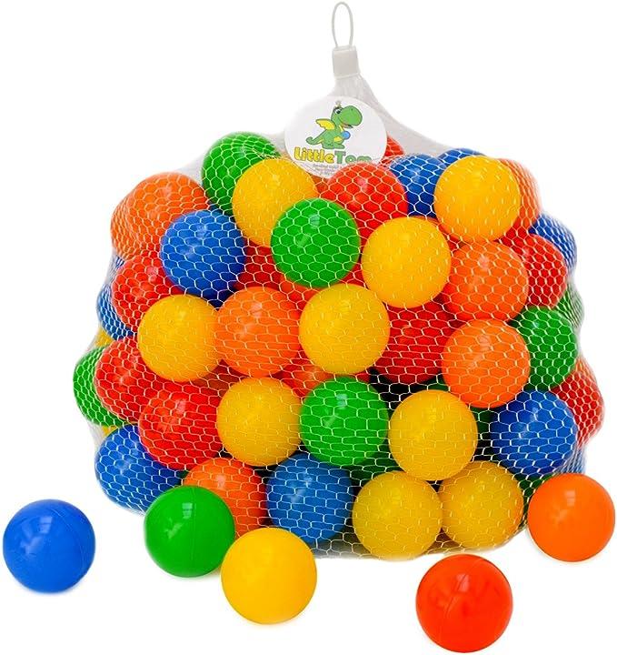 LittleTom 120 Bolas de Colores Ø 5,5cm para llenar Piscinas para ...
