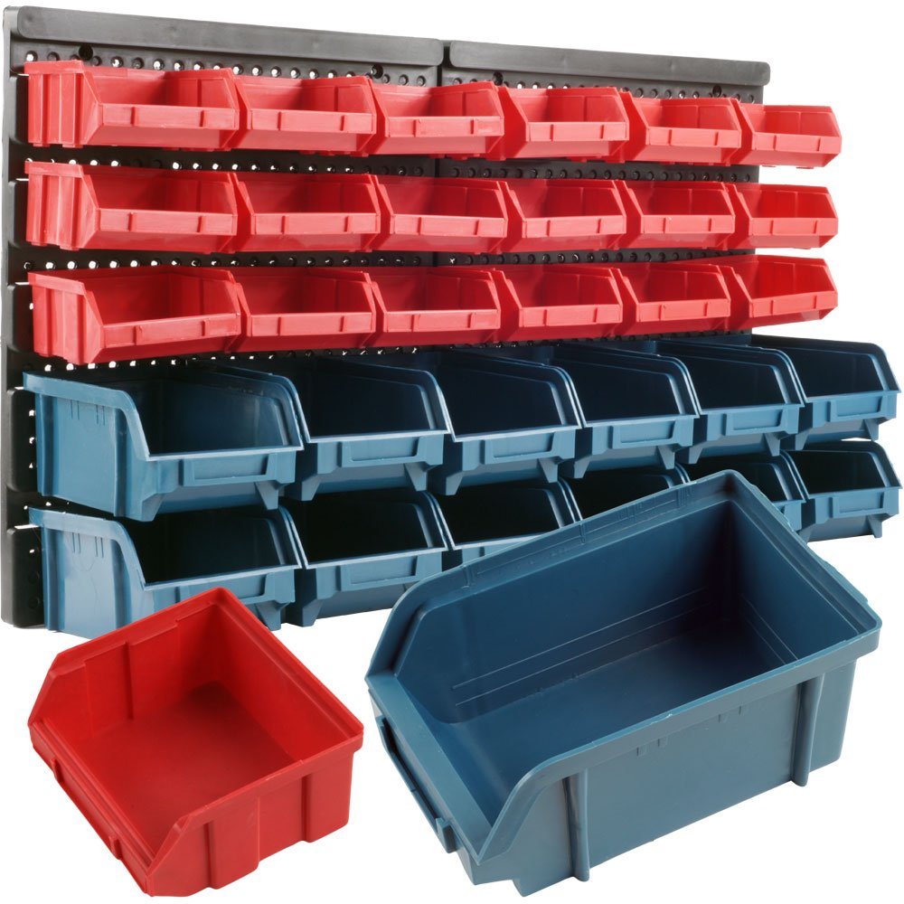 Exceptionnel Amazon.com: Storage Drawers 30 Compartment Wall Mount Organizer Bins  Easy  Access Compartments For Hardware, Nails, Screws, Beads, Jewelry, ...