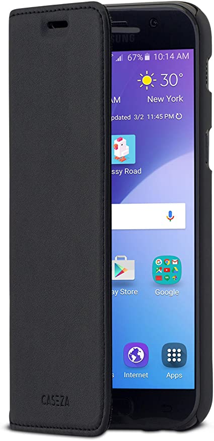 CASEZA Samsung Galaxy A5 2017 Funda Negro Tipo Libro Piel PU Case ...