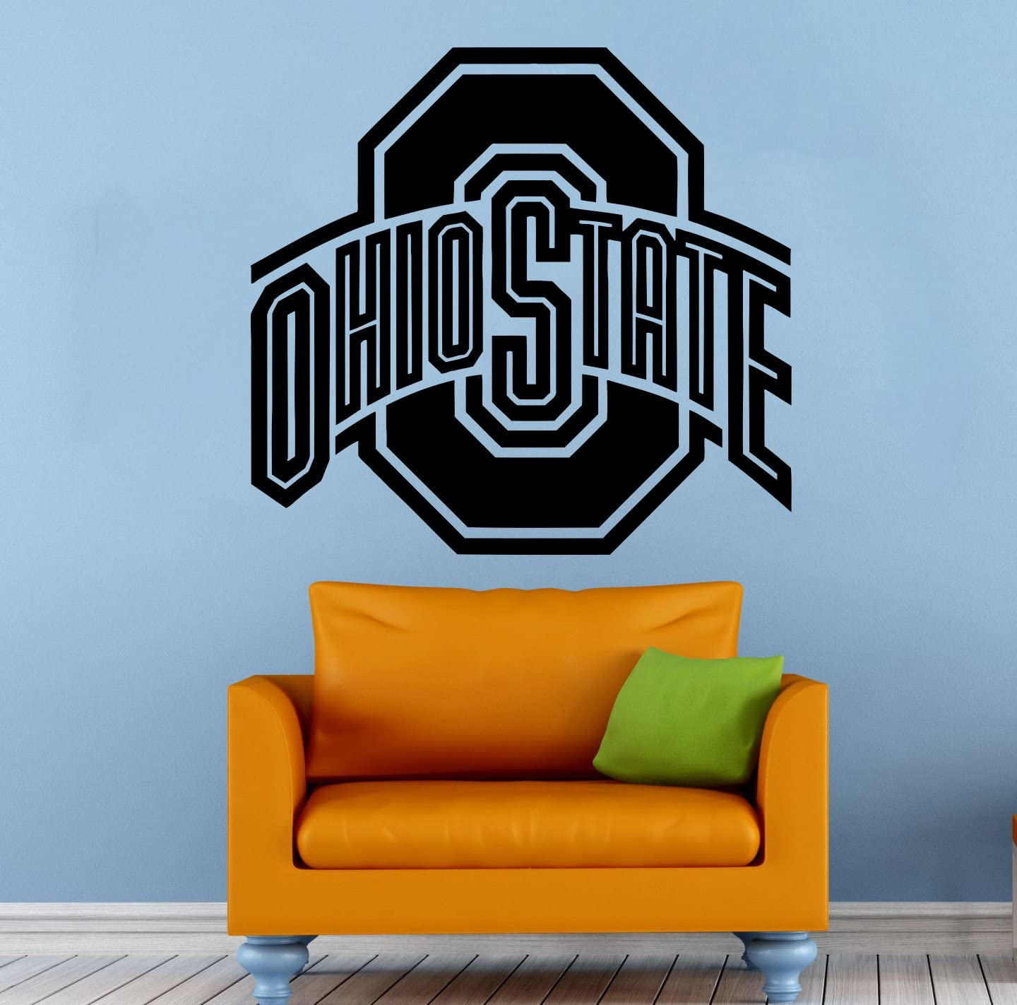 NCAA Wall Decal Sticker Ohio State Football Emblem Home Interior Removable Decor (25