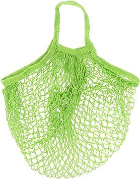 Jooks Bolsa de Malla de algodón orgánico para la Compra, Bolsa de Verduras, Tejido Reutilizable, Bolsa de Playa, Color Verde: Amazon.es: Juguetes y juegos