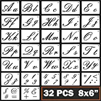 Letter Stencils Cursive Letter Stencils Calligraphy Stencil Letters Cursive Alphabet Letter Number Drawing Painting…